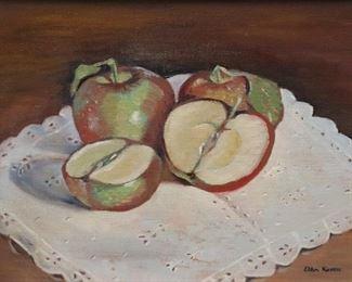 Ellen Knouse Signed oil On Canvas Still Life