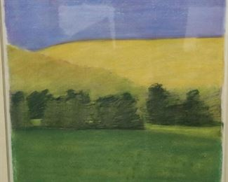 Eric Signed And Dedicated Pastel Landscape
