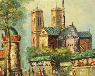 Garber Signed Oil On Canvas Street Scene