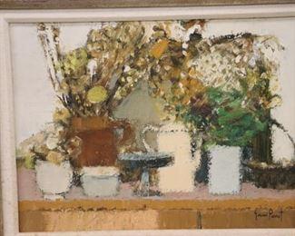 Gerard Passet Signed Oil On Canvas Still Life