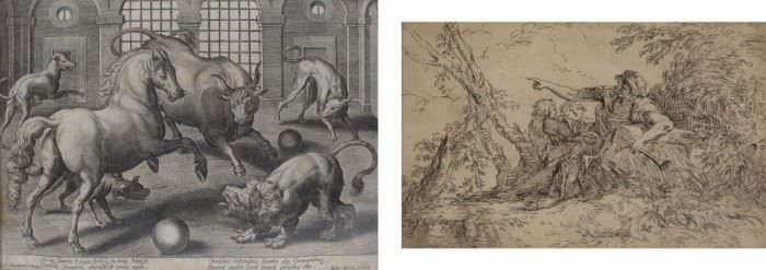 GROUPING OF OLD MASTER PRINTS