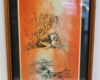 Illegibly Signed And Numbered Litho