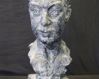 ILLEGIBLY Signed Bronze Bust