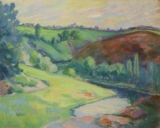ILLEGIBLY Signed Pastel Landscape