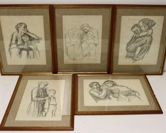 Kathe Kolowitz Grouping Of Prints