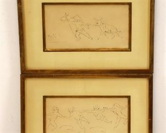 Marcel Vertes Signed Drawings