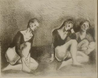 Moses Soyer Signed And Numbered Print
