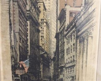 Robert Kasimir Signed Cityscape Etching