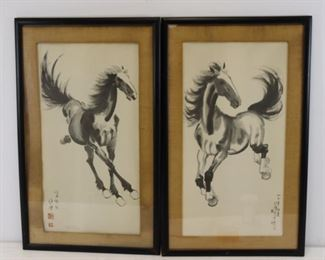 Signed Asian Horse Prints