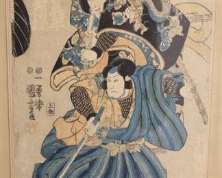 Signed Japanese Woodblock Print