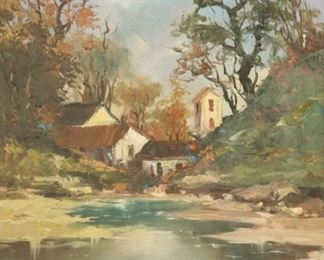 SPARDA Signed Oil On Canvas River