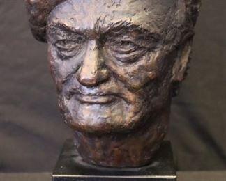 Stanley Spring Signed Bronze Bust Of A Gentleman