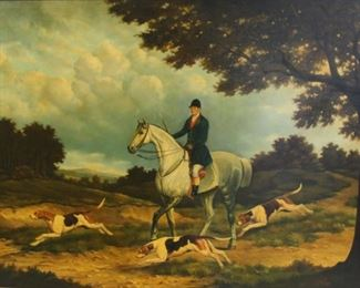 T Fillans Signed Oil On Canvas Horses