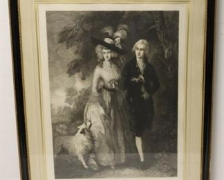 TGainsborough Scene Etched By Armand Mathey
