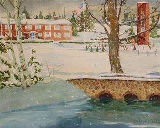 Tom Franta Signed Watercolor The Canton