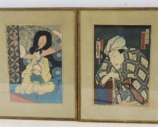 Toyo Kuni Signed Woodblock Prints