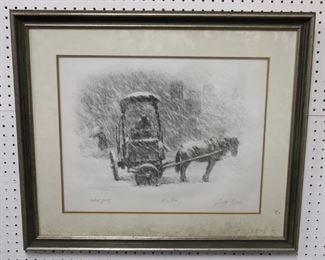 Tully Filmus Pencil Signed Print Winter