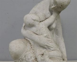 UNSIGNED Marble Sculpture Mother Child