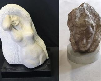 UNSIGNED Marble Sculptures