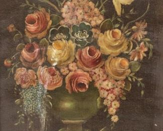 UNSIGNED Oil On Canvas Floral Still Life
