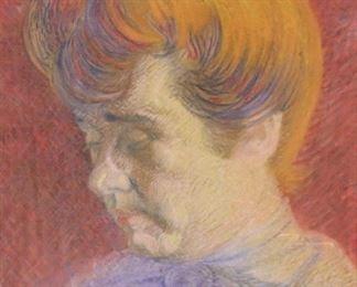 UNSIGNED Pastel Portrait Of A Boy