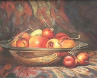 Unsigned Pastel Still Life Fruit