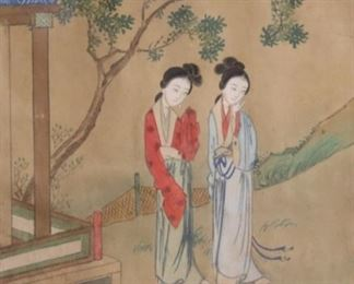 UNSIGNED Watercolor Geishas