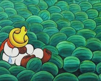Xavier Cugat Signed Oil On Canvas Asleep