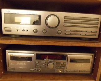 JVC Receiver, cassette player and speakers