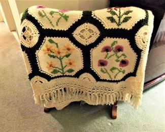 Hand-stitched & crocheted quilt