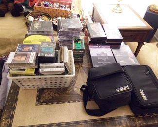 CDs, DVDs & cassette tapes