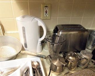 Electric tea kettle, stainless toaster...
