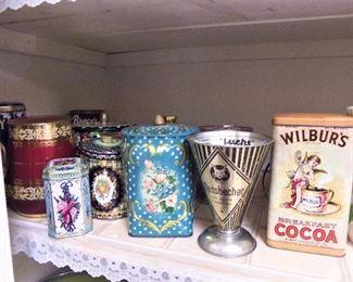 Vintage & newer tins
