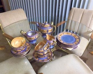 Luster ware luncheon set