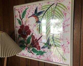 Beautiful Colorful Batik Framed Picture $ 138.00