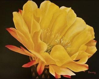 Beautiful large yellow flower art