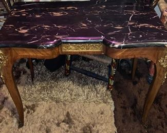 LOUIS XV MARBLE TOP SIDE TABLE  $120