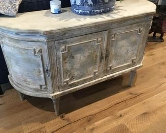 French style grey painted sideboard - cabinet