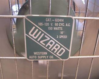 "Working Western Auto Supply Co. Wizard 20"" all metal box fan"