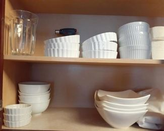 Clean, white dishes