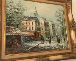 French style street scene in beautiful frame