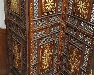 Room divider, inlaid ivory