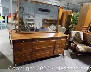 Haywood Wakefield 'Cadence' Dresser with Mirror     *See Lot #2306 for Matching Nightstand.