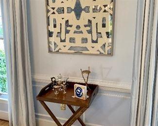 Lindsay Cowles artwork, sterling silver tea set, moveable bar and lots of little original art!