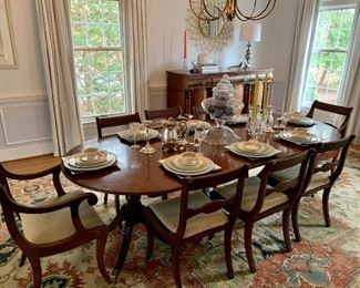 Antique Table seats 8/10 with ease!