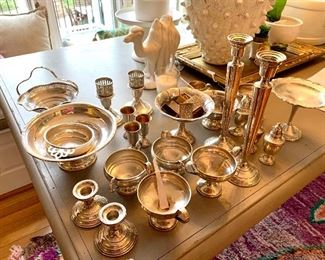 Large and lovely selection of Sterling Silver serving pieces