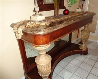 marble topped foyer table