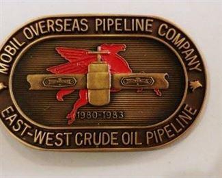 Mobil Overseas Pipeline Company Belt Buckle