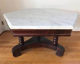Hexagon marble top table https://ctbids.com/#!/description/share/317387