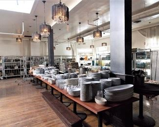 Dishes,1 Sale For Jan. 25th & 26th Saturday & Sunday 9am To 3pm   Large Nightclub In Chicago  Address To Come Thursday !   Tables , Chairs , Many Chandeliers , Many Pots & Pans , Tons Of Dishes & Glasses , Night Club Lighting , Speakers & Equipment , 2 Walk In Coolers , Booth Benches , Bar Sinks Breakdown Tables , Wooden Tables , Chairs , Light Fixtures, Chandeliers, Bar Utensils,  Silver Ware , Serving Utensils, Plates , Serving Bowls & Platters, Pots, Pans , Pasta Makers , Metal Prep Tables, Wine Glasses, Champaign Buckets , Bar Accessories , Sinks , Bar Sinks , Tray Racks , Mirrors , Old Time Cash Registers , Sofa's ,  Leather Benches , Office Furniture , File Cabinets , Huge Wooden Wine Racks ,  Wine Closet, DJ Music Equipment , Speakers, Lights,  Cleaning Supplies , Safes , Outdoor Tables And Much Much More  cups, plates serving pieces